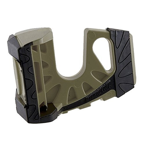 Wedge-It 3-in-1 Ultimate Door Stop Heavy Duty Lexan Plastic Rubber Shim - Olive