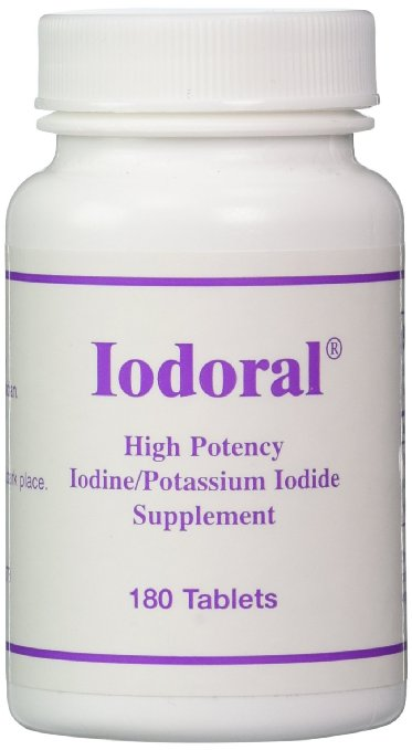 OPTIMOX Iodoral High Potency Iodine Potassium Iodide Thyroid Support Supplement, 180 Count