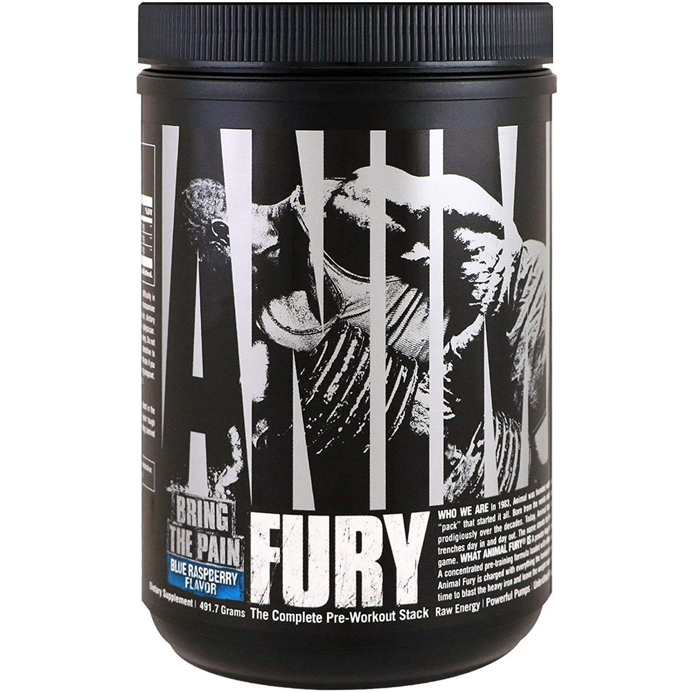 Universal Nutrition Animal Fury 30 Servings PreWorkout Blue Raspberry