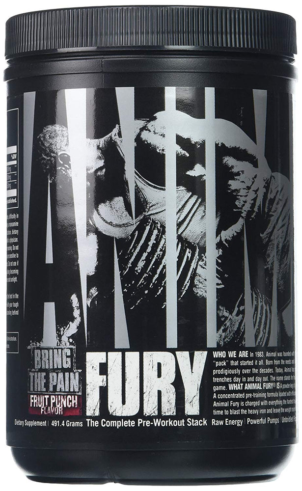 Universal Nutrition Animal Fury 30 Servings PreWorkout Fruit Punch