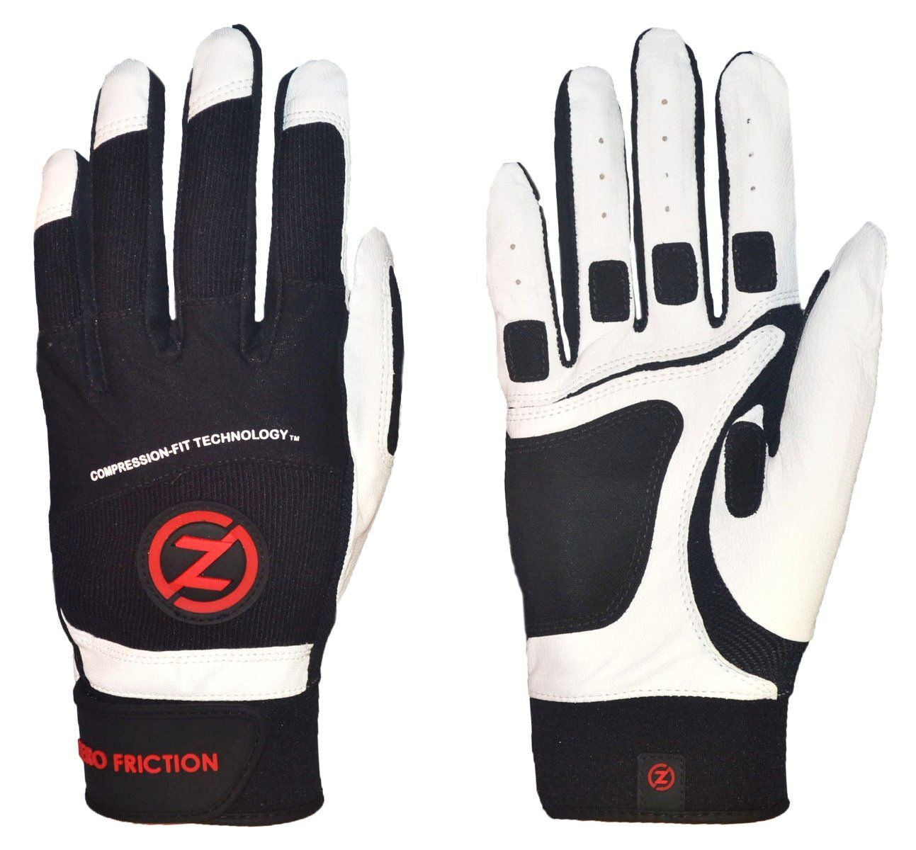 Zero Friction Cabretta Leather Batting Gloves Men's One Pair - Variety Colors