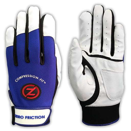 Zero Friction Batting Glove Performance One Pair - Variety Size & Color