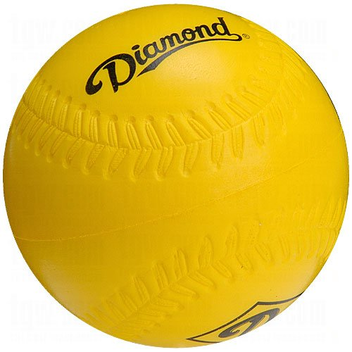 Diamond 12 inch Foam Practice Softballs 12 Ball Pack
