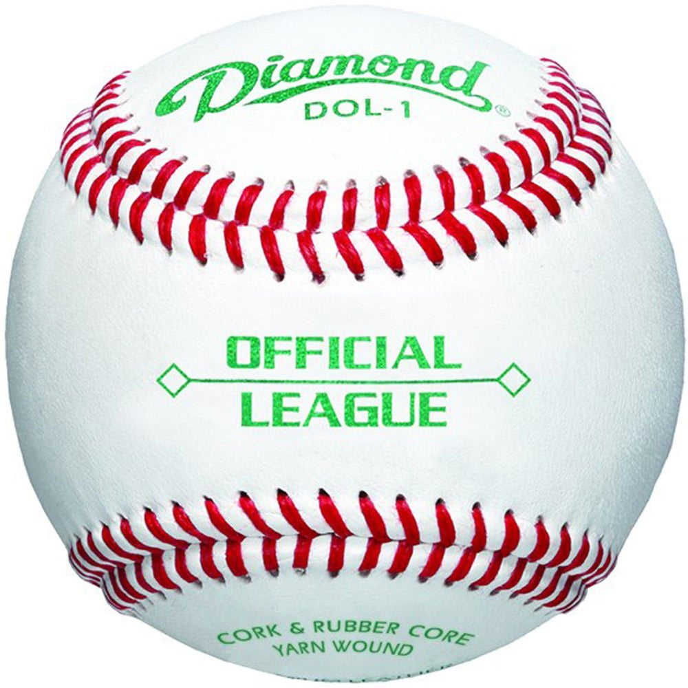 Diamond DOL-1 Official League Leather Baseballs 12 Ball Pack