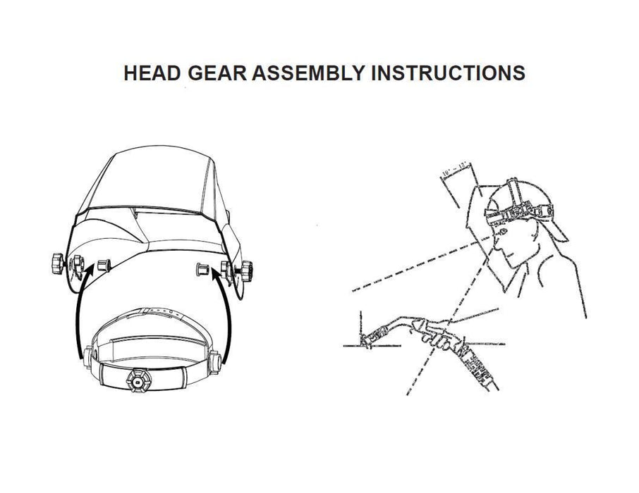 Replacement Headgear Universal Fit for Lincoln Welding Auto-Darkening Helmets