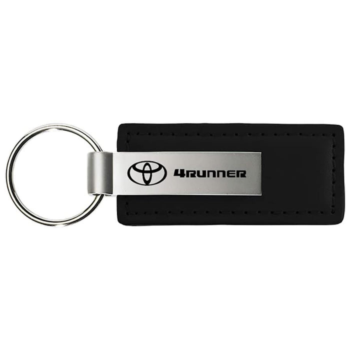 Au-Tomotive Gold, INC. Toyota 4RUNNER Black Leather Key Chain Genuine Licensed Product