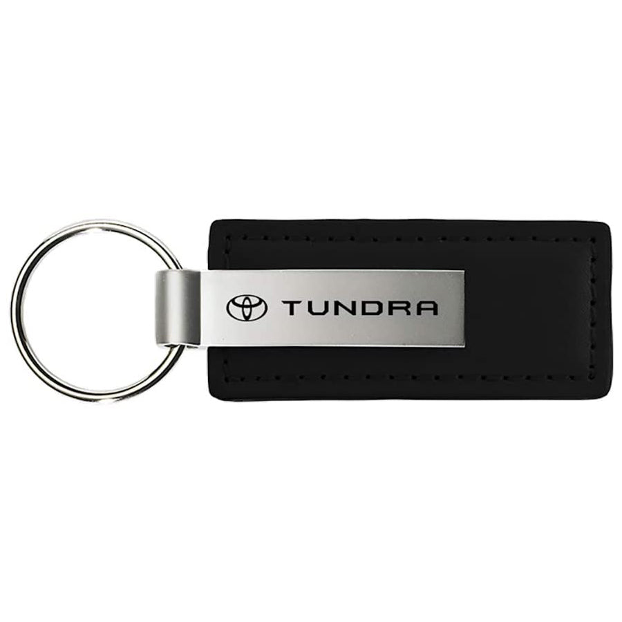 Au-Tomotive Gold, INC. Toyota Tundra Black Leather Key Chain Genuine Licensed Product