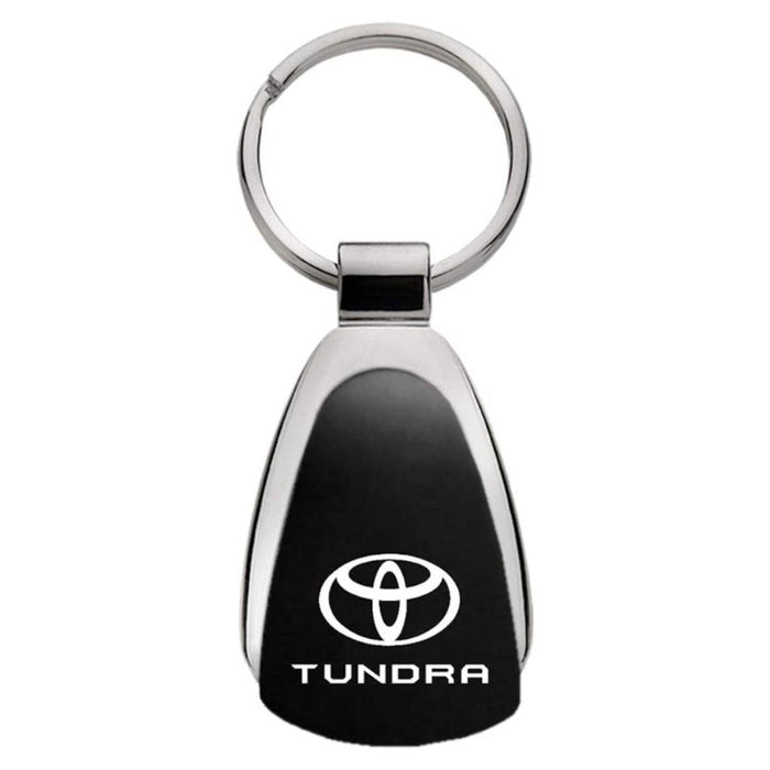 Au-Tomotive Gold Toyota Tundra Black Tear Drop Key Chain Genuine Licensed Product