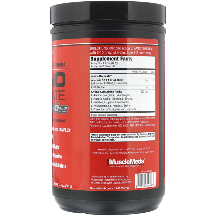 MuscleMeds Amino Decanate 30 Servings Fruit Punch