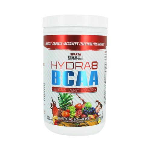 Sparta Nutrition Hydra8 BCAA 30 Servings Tropical Paradise Flavor Energy Hydration