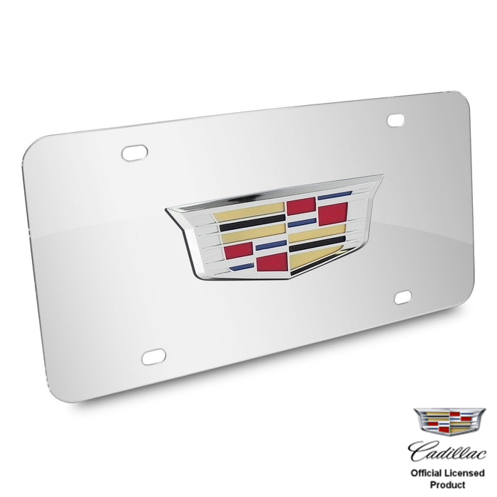 Au-Tomotive Gold Cadillac New Crest 3D Logo on Chrome Stainless Steel