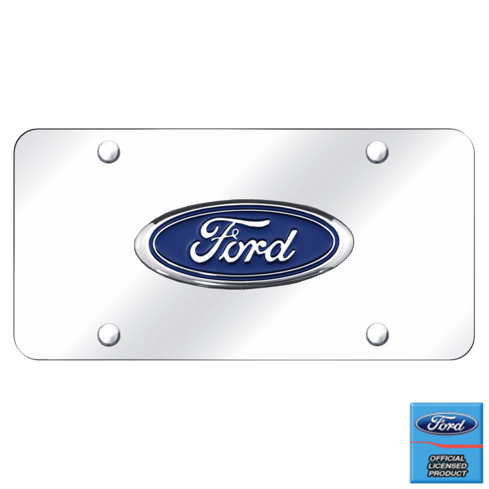 Au-Tomotive Gold, INC. Ford Logo Chrome on Chrome Plate