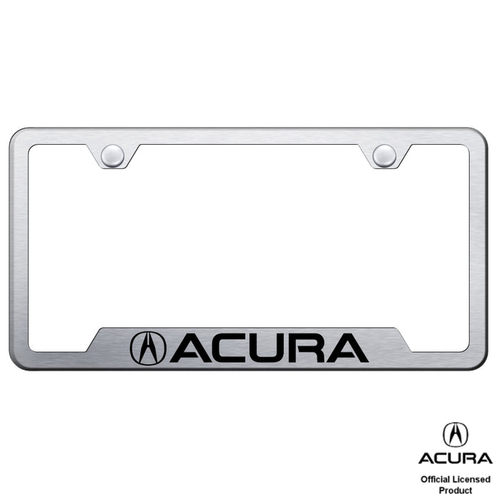 Au-Tomotive Gold Acura Laser Etched Cut-Out Frame – Brushed