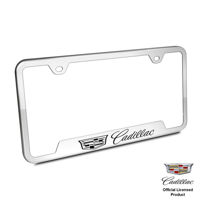 Au-Tomotive Gold, Plate Frame for Cadillac New Logo Stainless Steel Chrome