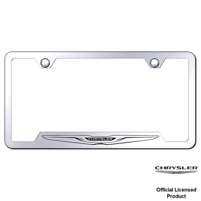 Au-Tomotive Gold Chrysler Logo Laser Etched Cut-Out Frame – Mirrored