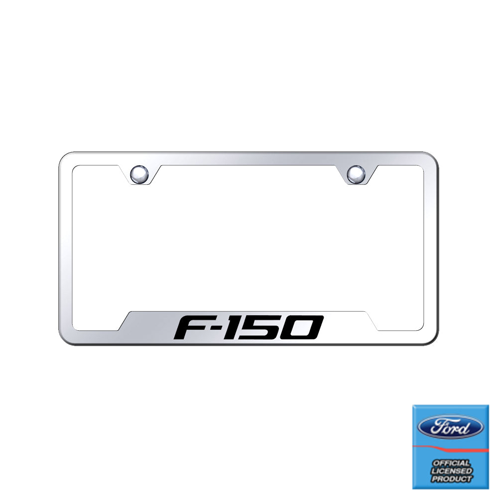 Au-Tomotive Gold Laser Etched Mirrored F-150 Cut-Out Frame