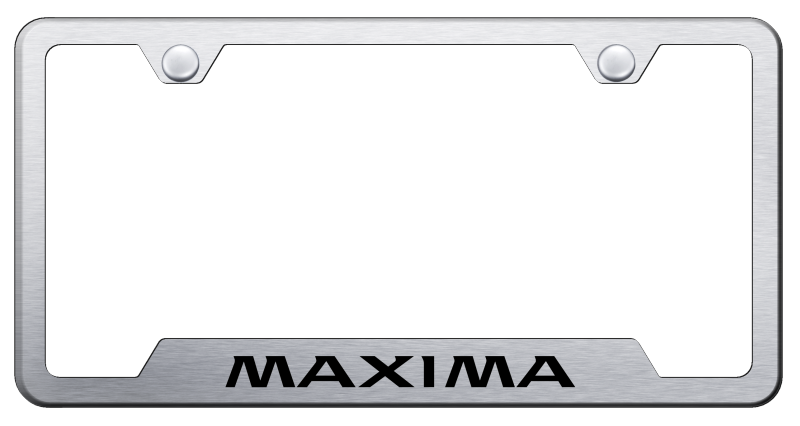 Au-Tomotive Gold Maxima Cut-Out Frame – Laser Etched Brushed