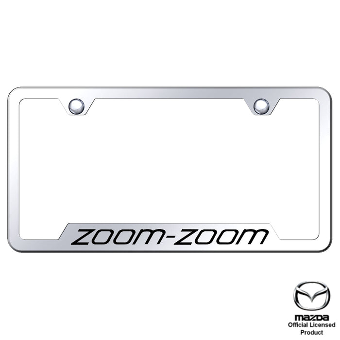Au-Tomotive Gold Mazda Zoom Stainless Steel Plate Engraved Mirror Bright