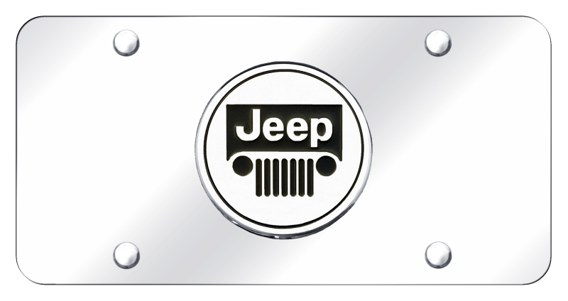 Au-Tomotive Gold Jeep Logo Chrome on Chrome Plate
