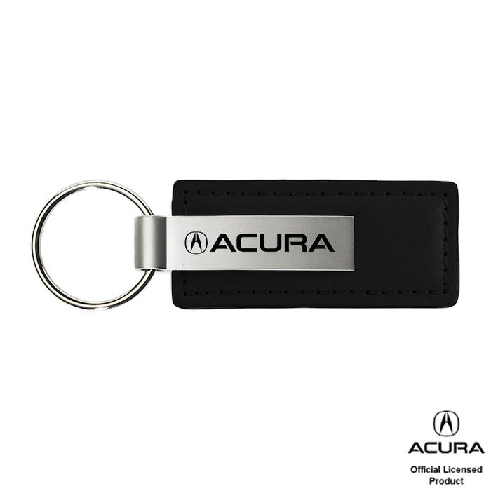 Au-Tomotive Gold Acura Black Leather Key Chain