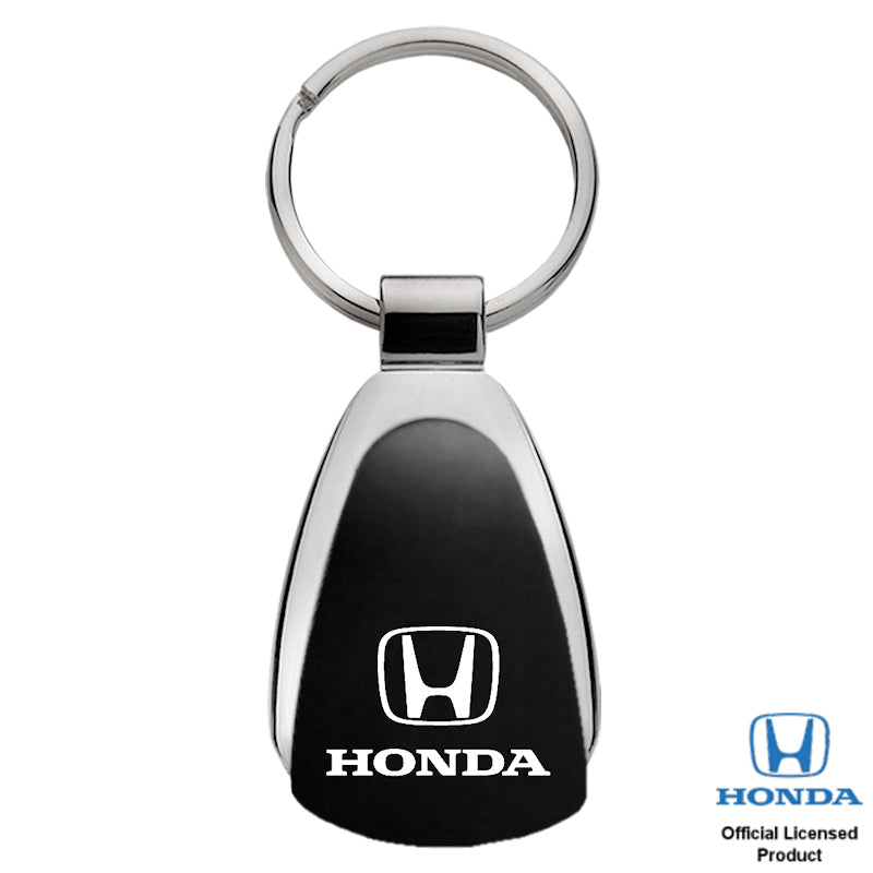 Au-Tomotive Gold Honda Black Teardrop Key Chain
