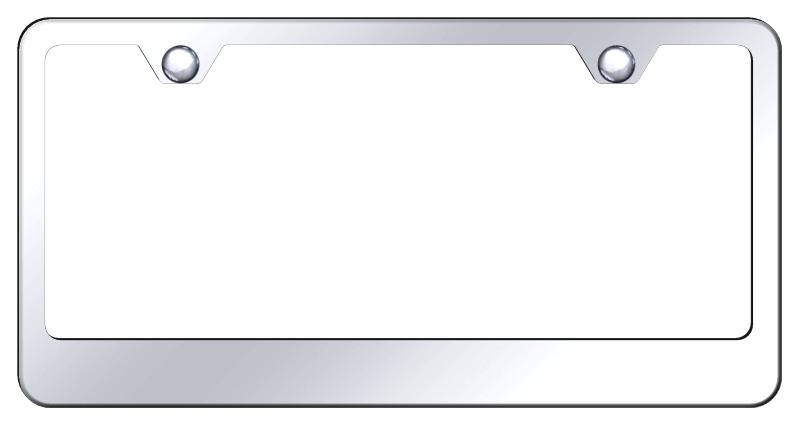 2 Hole Wide Bottom Frame-Mirror Polished Stainless Steel