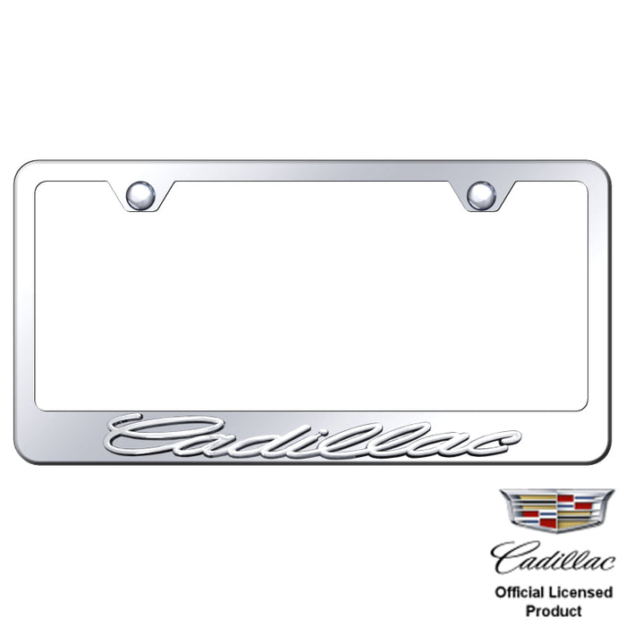 Au-Tomotive Gold Cadillac 3D Chrome/Chrome Frame-Metal