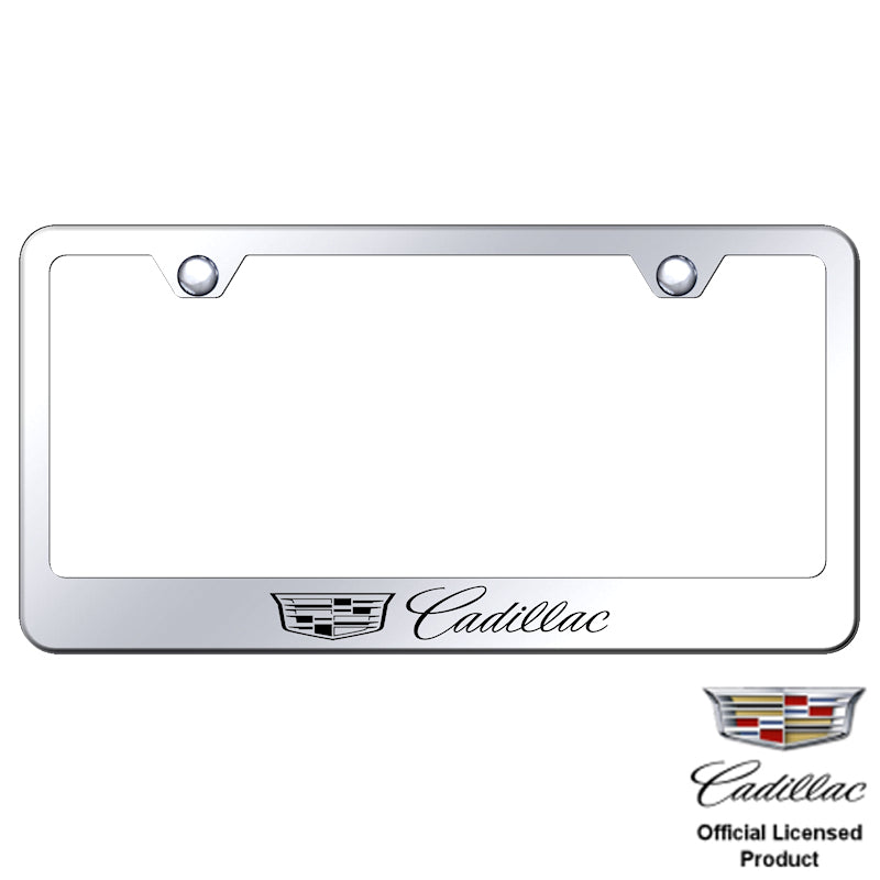 Au-Tomotive Gold Cadillac (New Logo) Laser Etched Frame – Mirrored