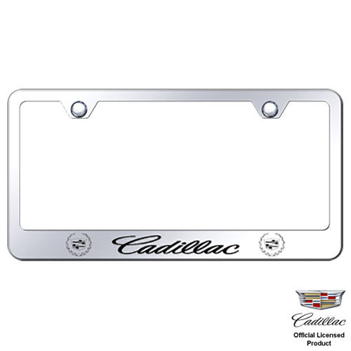 Au-Tomotive Gold Cadillac Laser Etched Frame-Mirrored