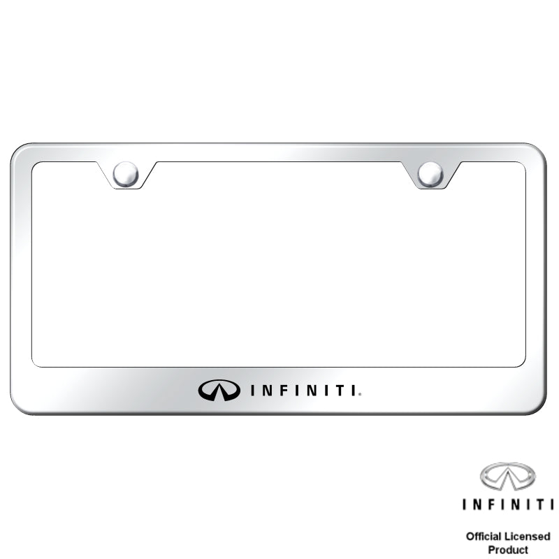 Au-Tomotive Gold Infiniti Stainless Steel Frame – Laser Etched Mirrored