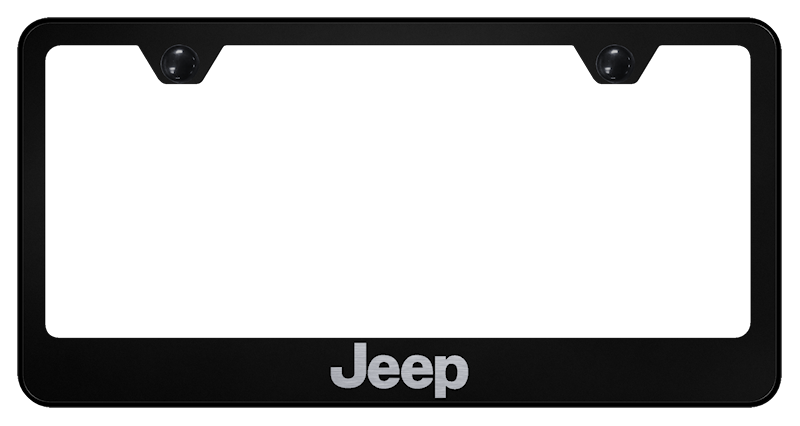 Au-Tomotive Gold Jeep Laser Etched Frame – Black