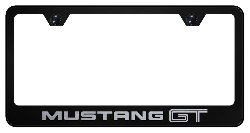Au-Tomotive Gold Mustang GT Laser Etched Frame – Black