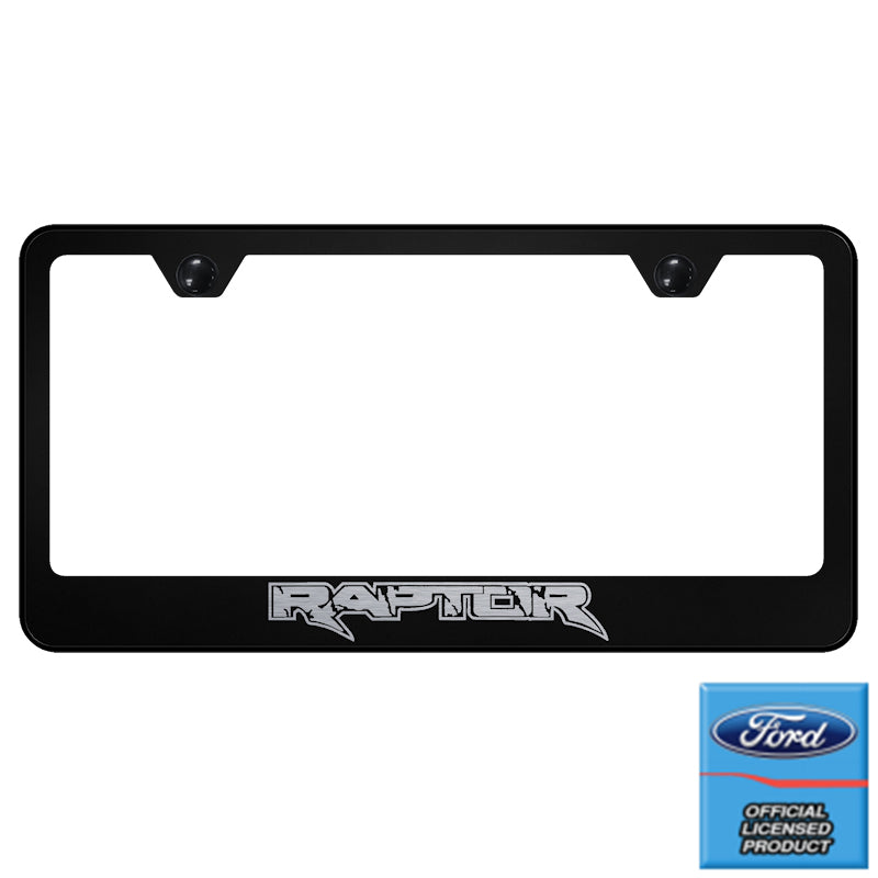 Au-Tomotive Gold Ford Raptor Laser Etched Frame-Black