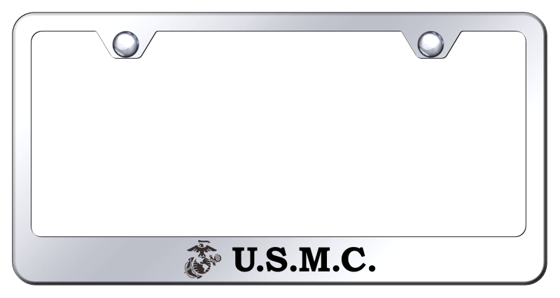 Au-Tomotive Gold U.S.M.C. Initials Laser Etched Frame – Mirrored