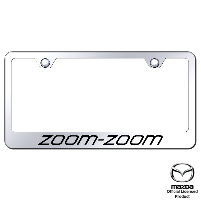 Au-Tomotive Gold Zoom Zoom Laser Etched Frame-Mirrored