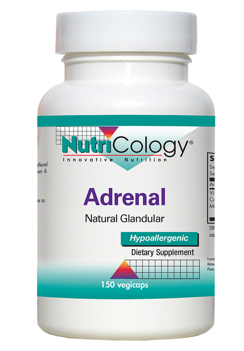 Nutricology Adrenal Natural Glandular Hypoallergenic 150 Vegicaps