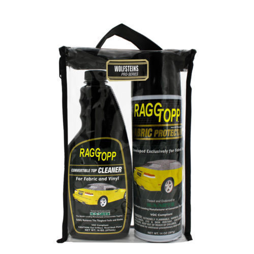 Raggtopp Fabric Care Kit Cleaner & Protectant Kit UV Blockers with Carrying Case