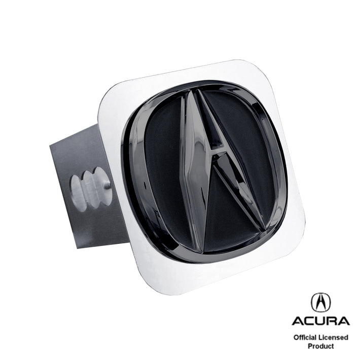 Au-Tomotive Gold Acura Black Pearl Chrome Trailer Hitch Plug