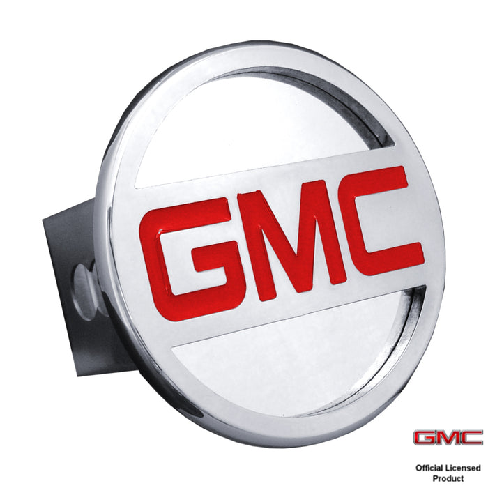 Au-Tomotive Gold GMC Name Chrome Trailer Hitch Plug