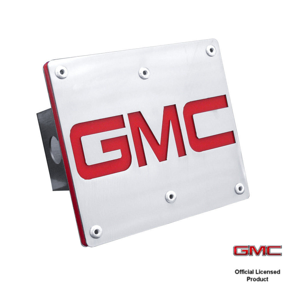 Au-Tomotive Gold GMC Trailer Hitch Plug-Brushed Stainless