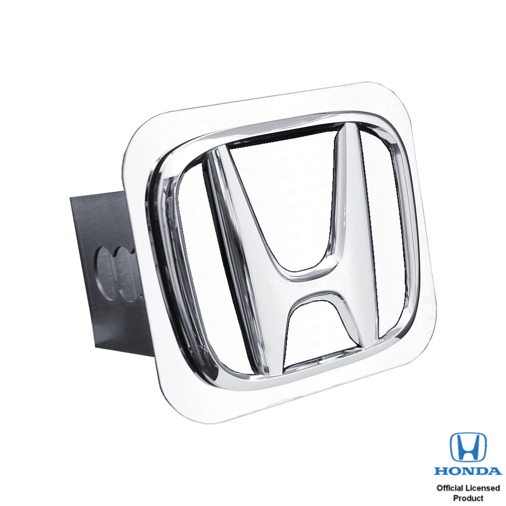 Au-Tomotive Gold Honda 'Plain No Fill' Chrome Trailer Hitch Plug