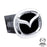 Au-Tomotive Gold Mazda (New) Chrome/Black Trailer Hitch Plug