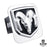 Au-Tomotive Gold Ram OEM Logo Chrome Trailer Hitch Plug