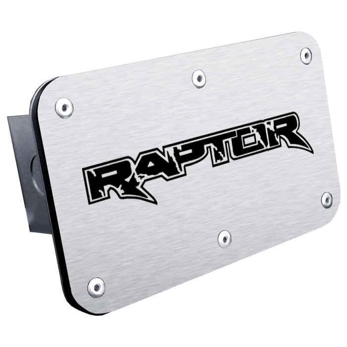 Au-Tomotive Gold Raptor Laser Etched Hitch Plug – Brushed Stainless