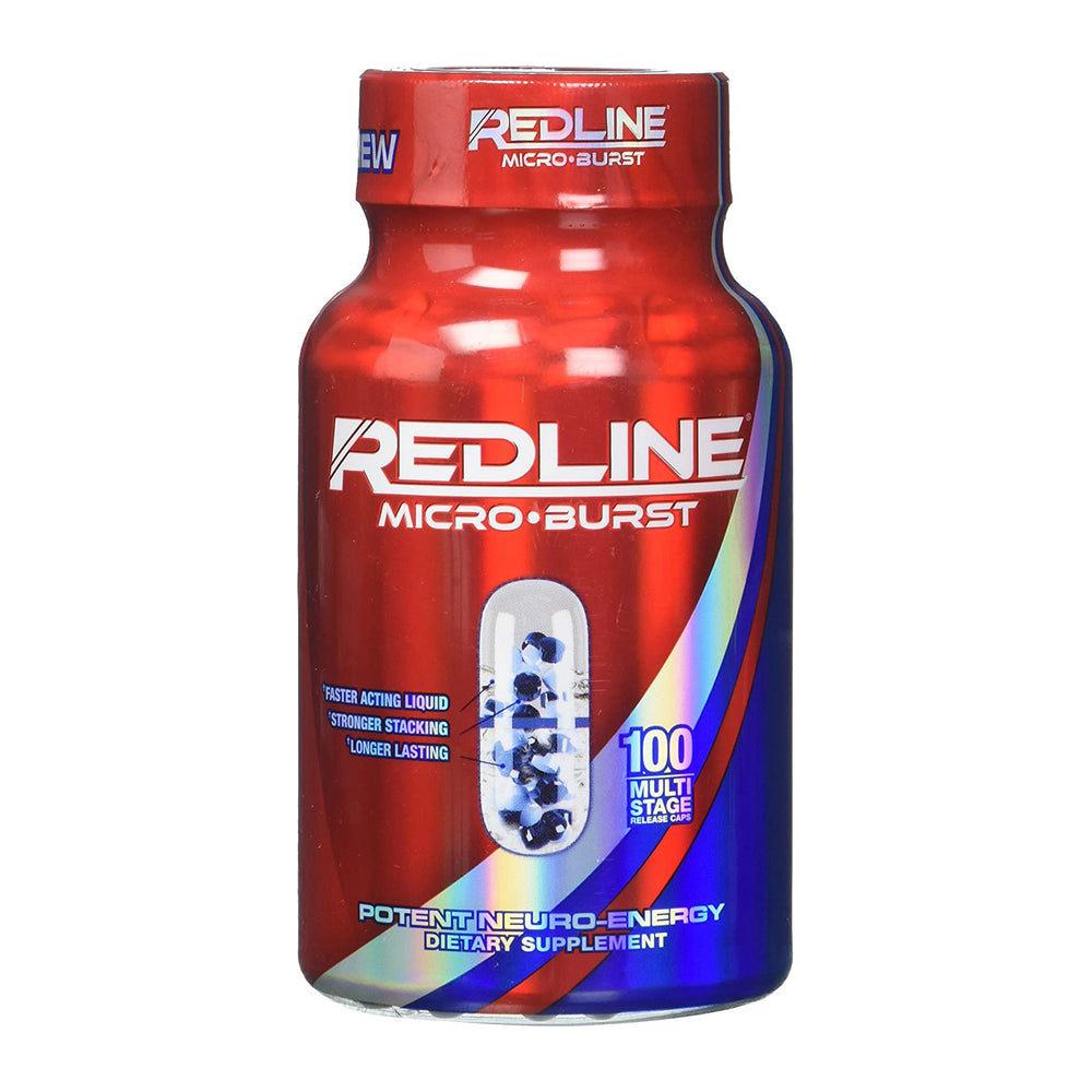 VPX Redline Microburst 100 Multi-Stage Release Caps Dietary Supplement