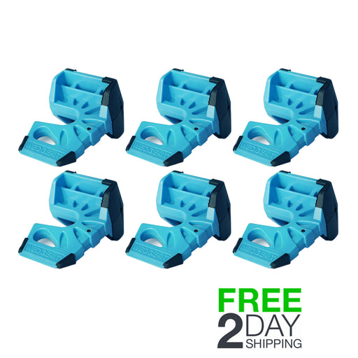Wedge-It - The Ultimate Door Stop - Blue (6 Pack)