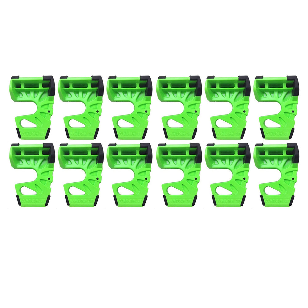 Wedge-It - The Ultimate Door Stop - Lime Green - Pack of 12
