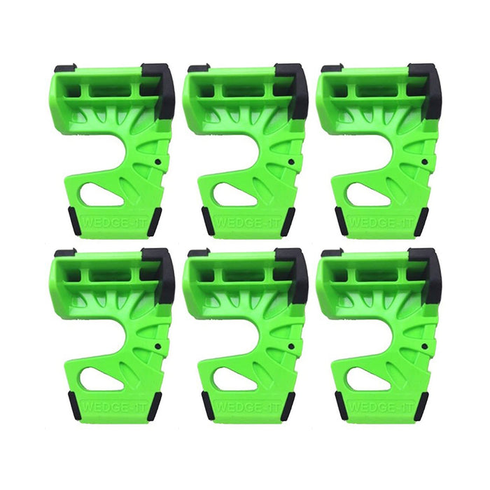 Wedge-It - The Ultimate Door Stop - Lime Green (6 PACK)