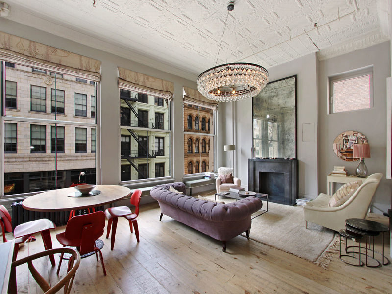 Loft love loft lighting modern rustic and industrial styles for Living room nyc