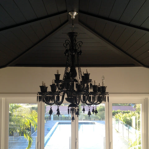 Felippo Nero Chandelier at Murano Plus, Lighting Specialists in Auckland